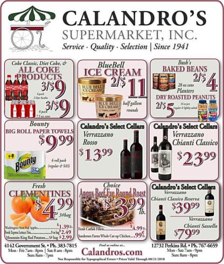 Amazing Weekly Deals @ Calandro's this week (08/16)