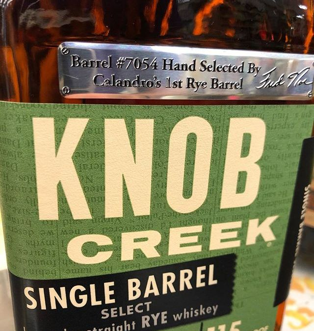 Our very first @knobcreek Rye Barrel has arrived at our Perkins Rd location! Come check…