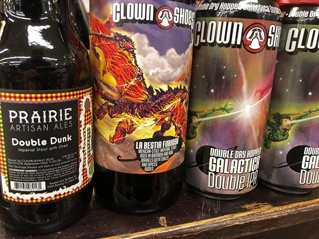 It's #newbrewthursday at our Perkins Rd location! @prairieales @clownshoesbeer #beer #doubledunk #oreo #stoutseason #barrelagedbeer #freshhops