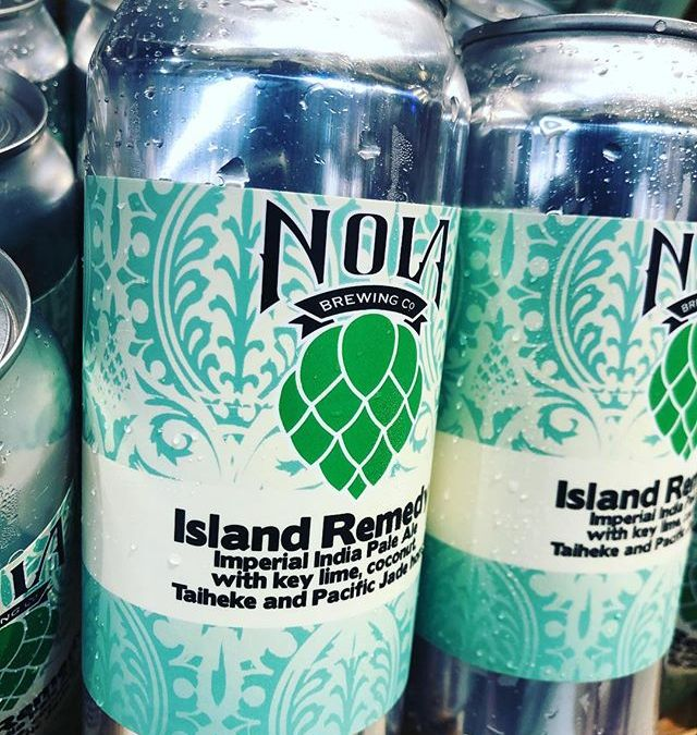 @nolabrewing Island Remedy is now available at our Perkins Rd location! #drinklocal #freshhops #tropical #beer