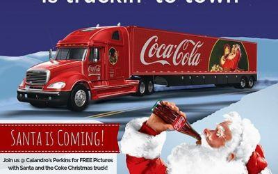 Santa is coming! Santa is coming! Join us at Calandro's Perkins this Wednesday (12/5) @…