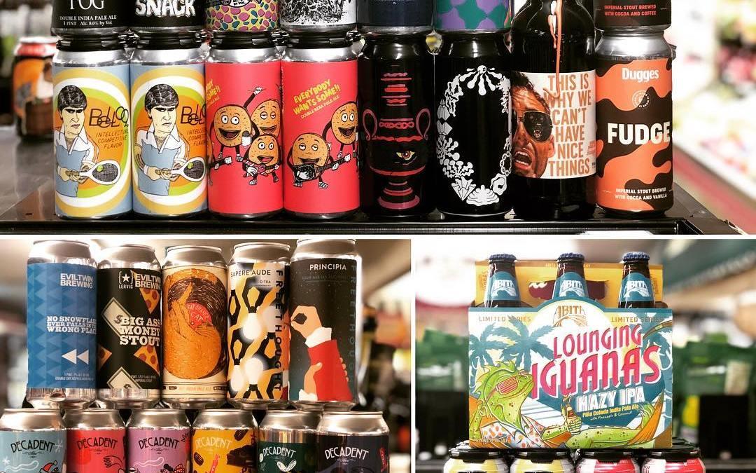 New brews now in stock at our #midcitybr location! #beer #newbrewtuesday #freshhops #barleywineislife #drinklocalbeer