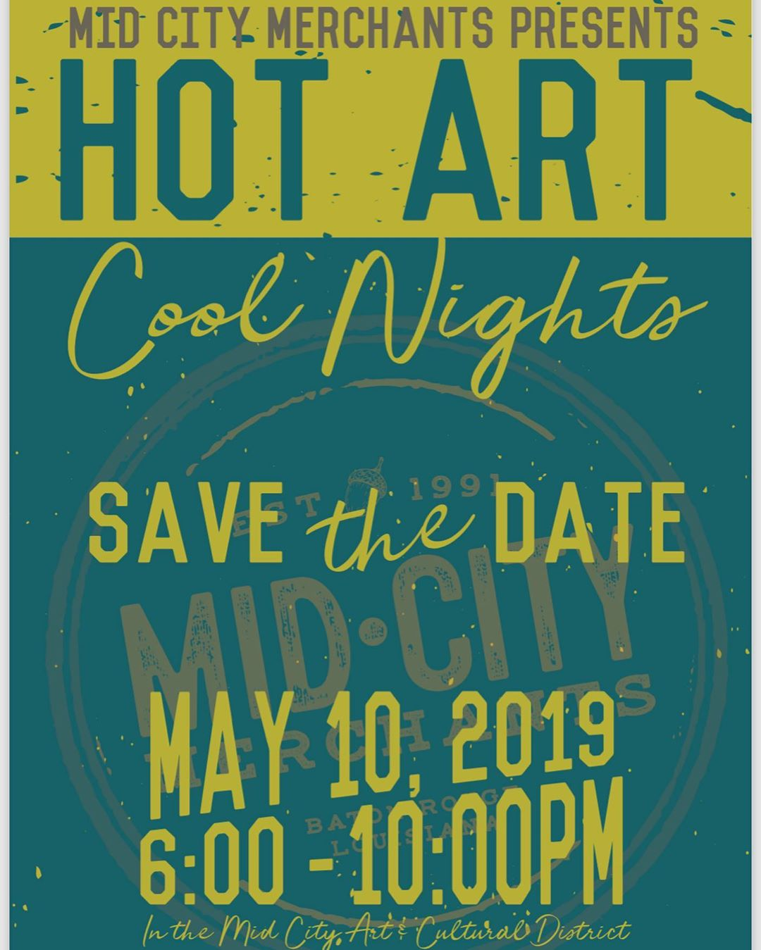 Get your rain boots on and come on out tonight for some fun, food, art…