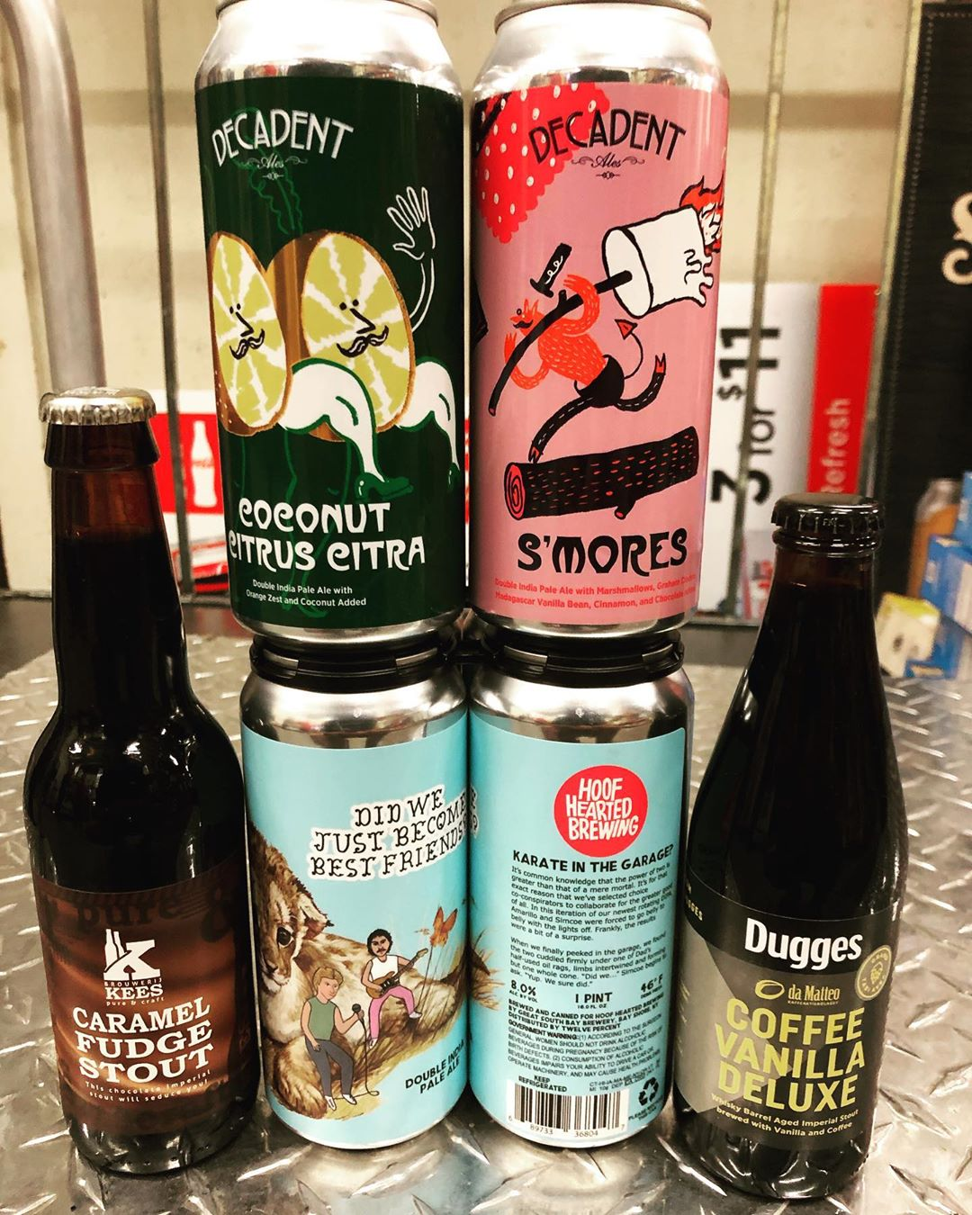 New brews now in stock at our Perkins Rd location! @brouwerijkees @hoofheartedbrewing @decadentales @duggesbryggeri #newbrewtuesday…