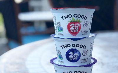 TWO GOOD yogurts from @twogoodyogurt have only 2 grams of sugar each !! Keto friendly,…