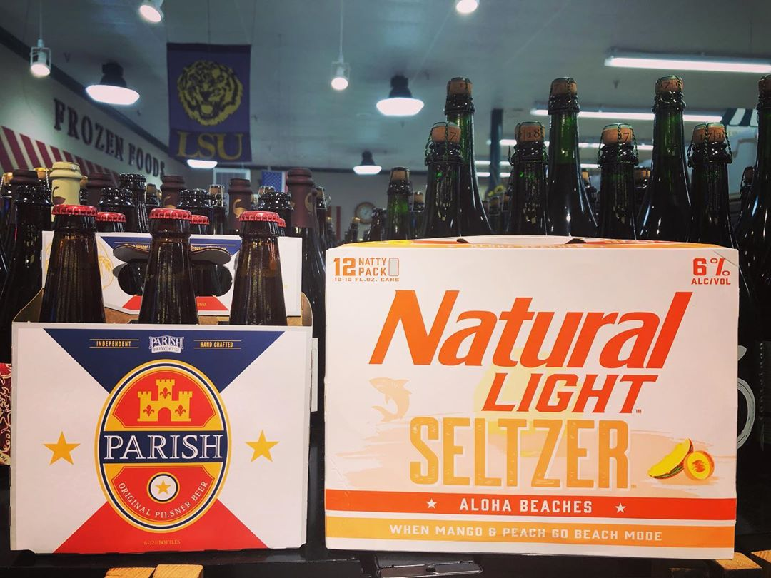 New brews meow in stock at our Perkins Rd location! @parishbrewingco #drinklocal #beer #natty #geauxtigers…