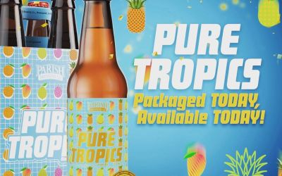 At around 2 PM today we will be releasing same day bottled @parishbrewingco Pure Tropics…