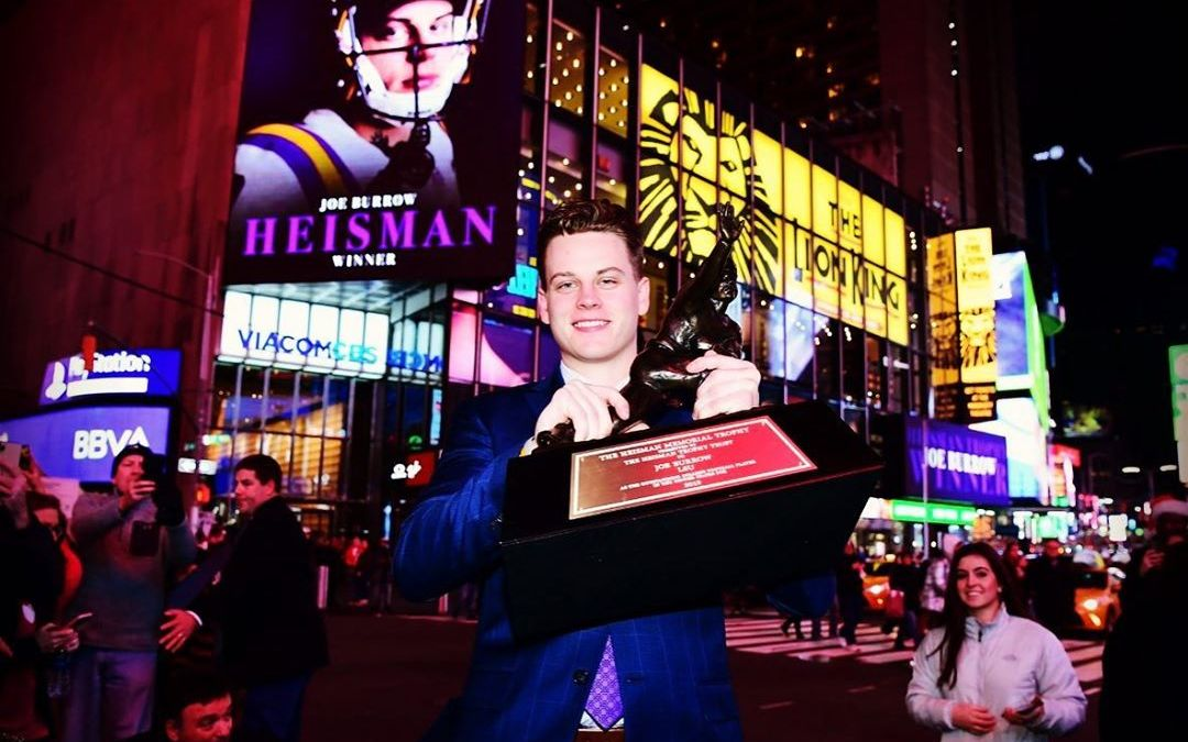 Congratulations @joe_burrow10 on winning the 2019 @heismantrophy !!! We are proud to call you ours!…