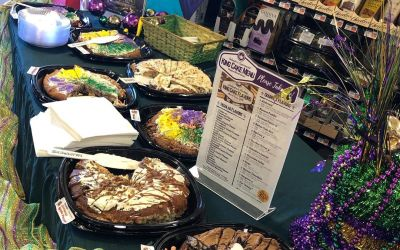 King cakes are back! We are sampling today at the Perkins location until 2 pm….