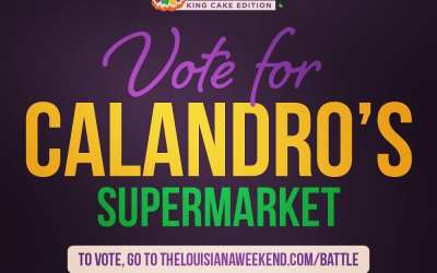 What?!? Calandro's needs your help – we're behind in the @louisianaweekend #battleofthebest #sweet16 matchup right