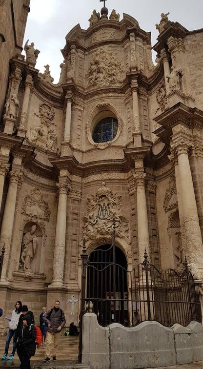 intrarea in catedrala din valencia