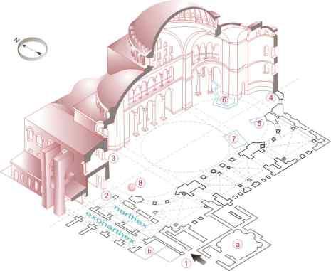 Plan explicativ Hagia Sofia