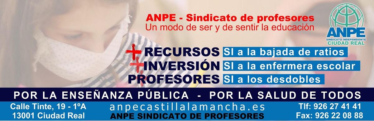 Por la enseñanza pública - Por la salud de todos - ANPE Ciudad Real