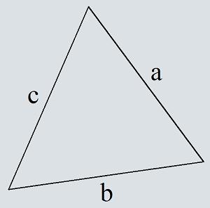 Sidans omkrets av en triangel