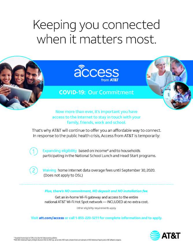 Access from AT&T flyer