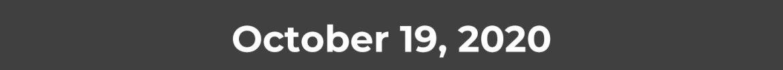 October 19, 2020