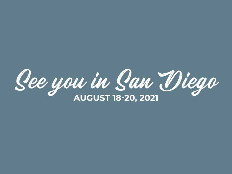 See you in San Diego