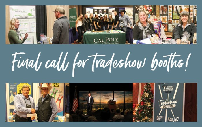 Final call for tradeshow booths