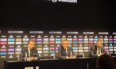 Conferenza stampa Maurizio Sarri Juventus