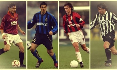 Totti Zanetti Maldini Del Piero record presenze Serie A