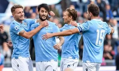 Esultanza gol Immobile Luis Alberto Lazio