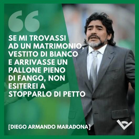 Diego Armando Maradona Frasi calcio