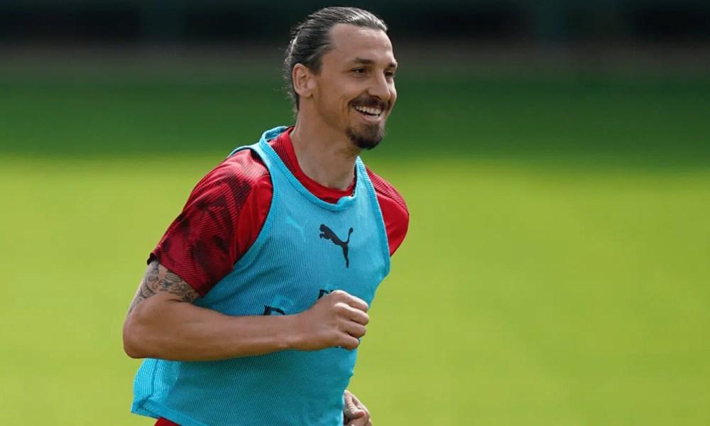 Zlatan Ibrahimovic allenamento Milan