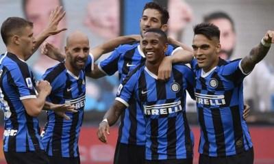 Esultanza Lautaro Martinez Young Barella Inter