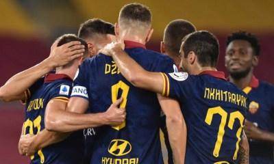 Esultanza gol giocatori Roma Luglio 2020