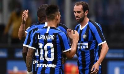 Lautaro Martinez Diego Godin Inter