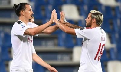 Zlatan Ibrahimovic Theo Hernandez Milan