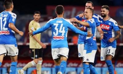 esultanza gol Amin Younes Napoli