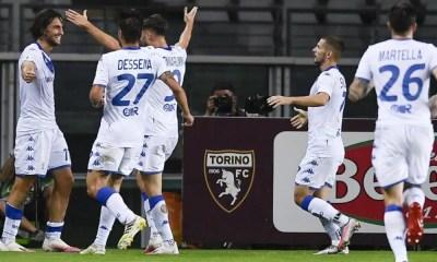 esultanza gol Ernesto Torregrossa Brescia