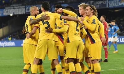 Esultanza gol giocatori Barcellona