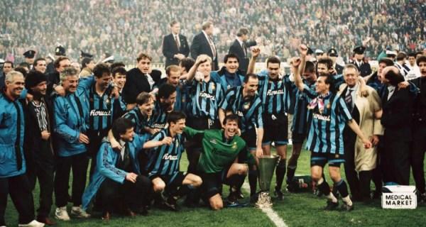 festeggiamenti Inter Coppa Uefa 1993-1994