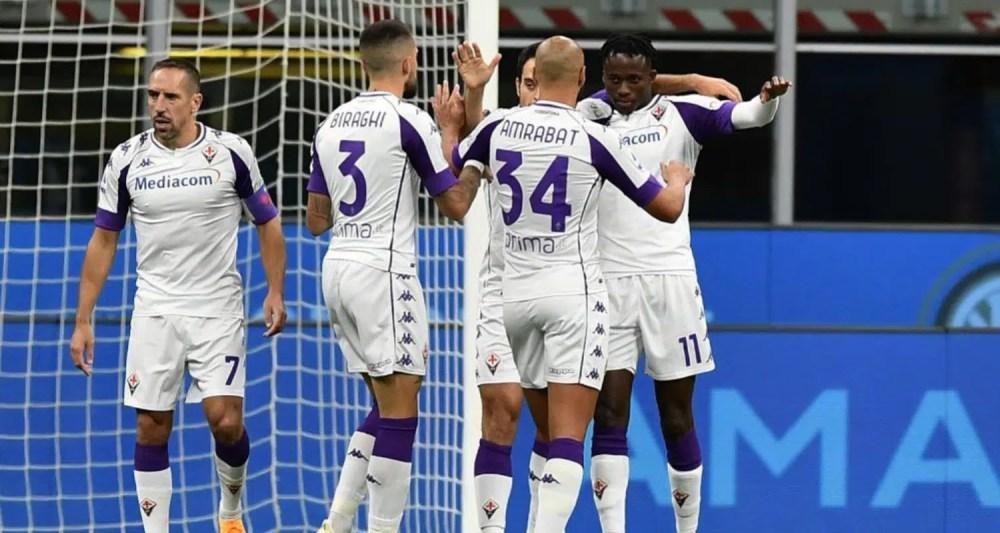 Esultanza Kouame Fiorentina