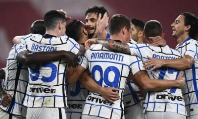 Esultanza giocatori Inter