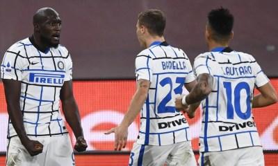 esultanza Lukaku Barella Lautaro Martinez Inter