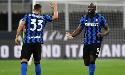 esultanza gol Romelu Lukaku D'Ambrosio Inter