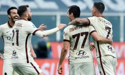 Esultanza giocatori Roma