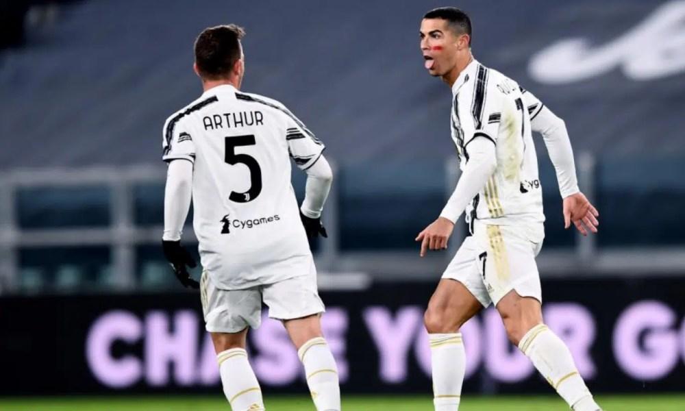 esultanza Arthur Cristiano Ronaldo Juventus