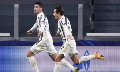 esultanza Morata Chiesa Juventus