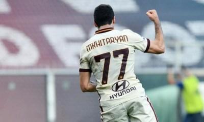 esultanza gol Henrikh Mkhitaryan Roma