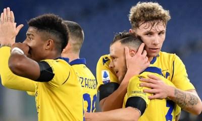 Esultanza gol Dimarco Verona