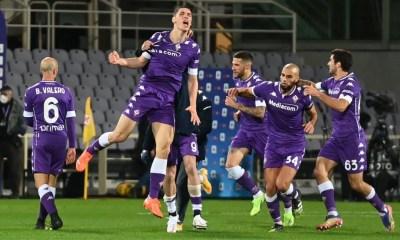 Esultanza gol Milenkovic Fiorentina