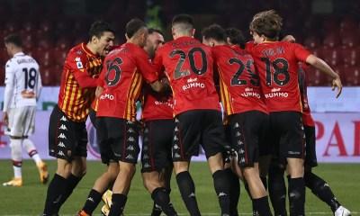 Esultanza gol giocatori Benevento
