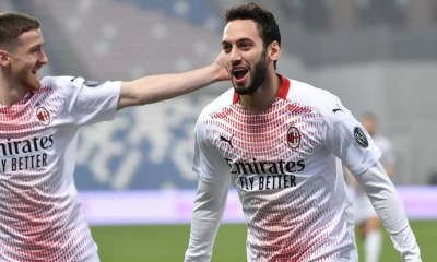 esultanza Hakan Calhanoglu Milan