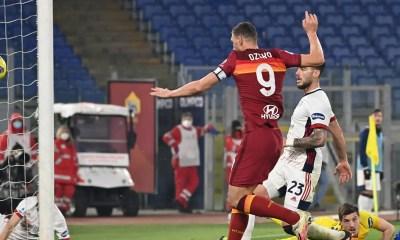 gol Dzeko Roma-Cagliari