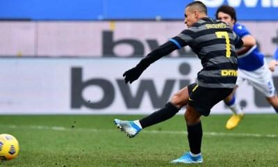 Alexis Sanchez rigore sbagliato Inter