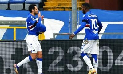 Esultanza Candreva Keita Sampdoria